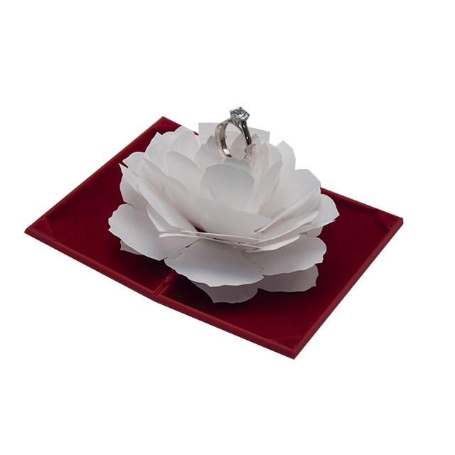 - Tektaş Yüzük Kutusu Evlilik Teklifi Süprizi Kırmızı-Beyaz