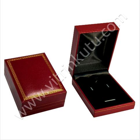 - Üçlü Set Kutusu 7.5x10.5 cm Deri Kartier