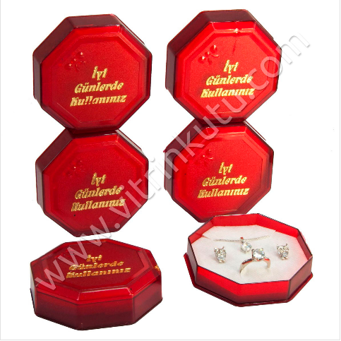 - Üçlü Set Kutusu Kırmızı Plastik 12'lİ Paket