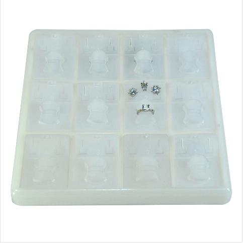 - Üçlü Takım Tablası 18x22 cm Beyaz Plastik