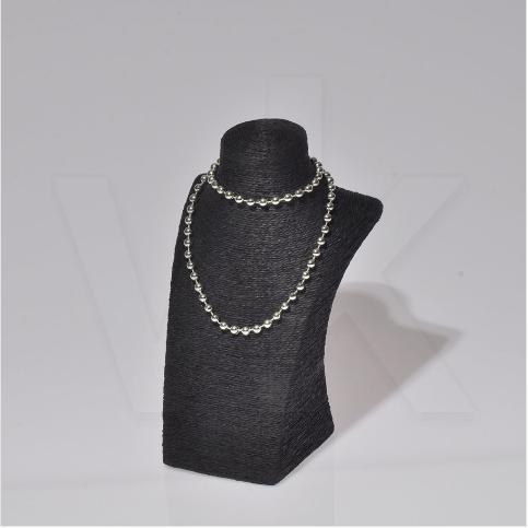 - Vitrin Takı Gerdanlık Standı 16x14.5x26 cm Siyah