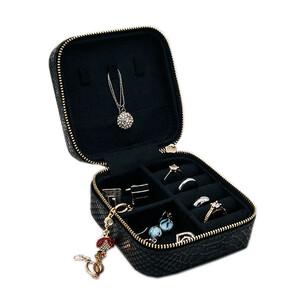 - Yılan Deri Desenli Mücevher ve Takı Çantası