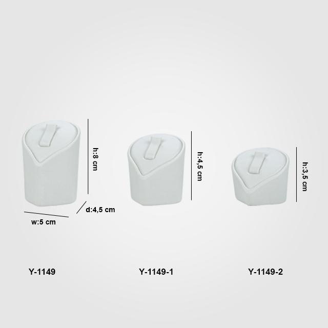 - Yüzük Standı Tırnaklı 3 Boy Y-1149 Beyaz