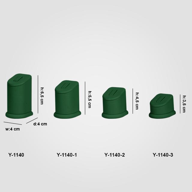 - Yüzük Standı Tırnaklı 4 Boy Y-1140 Yeşil