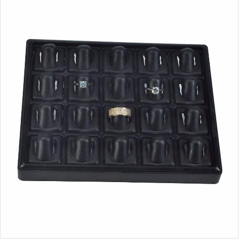 - Yüzük Tablası 22x18 cm Siyah Plastik